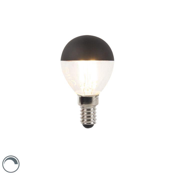 E14-dimbare-LED-filamentlamp-kopspiegel-P45-zwart-30-0lm-2700K