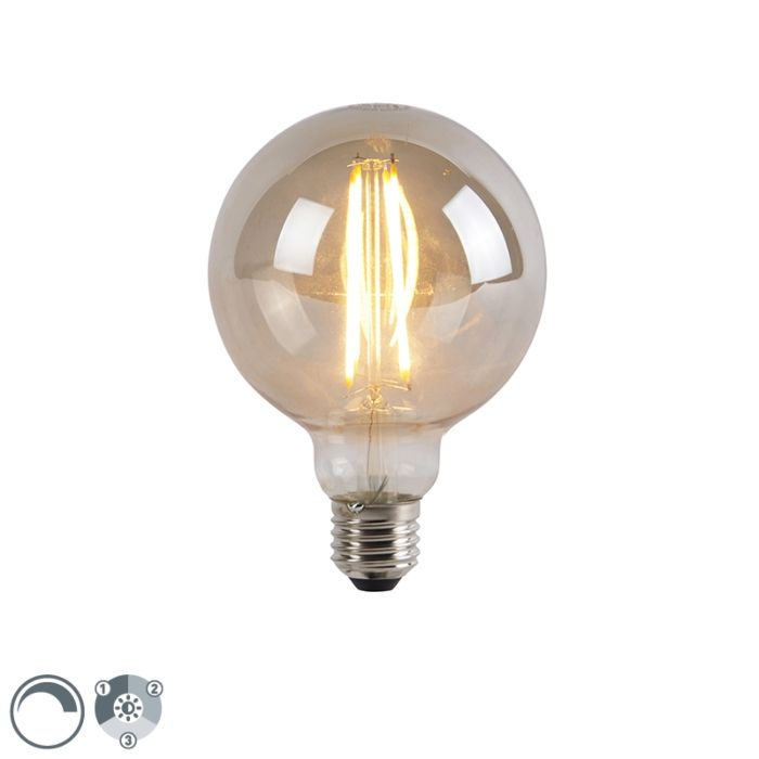 E27-3-staps-dimbare-LED-lamp-G95-smoke-glas-5W-450-lm-2200K