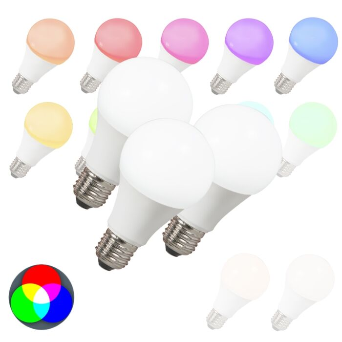 Set-van-3-LED-lampen-E27-240V-7W-500lm-A60-Smart-Light