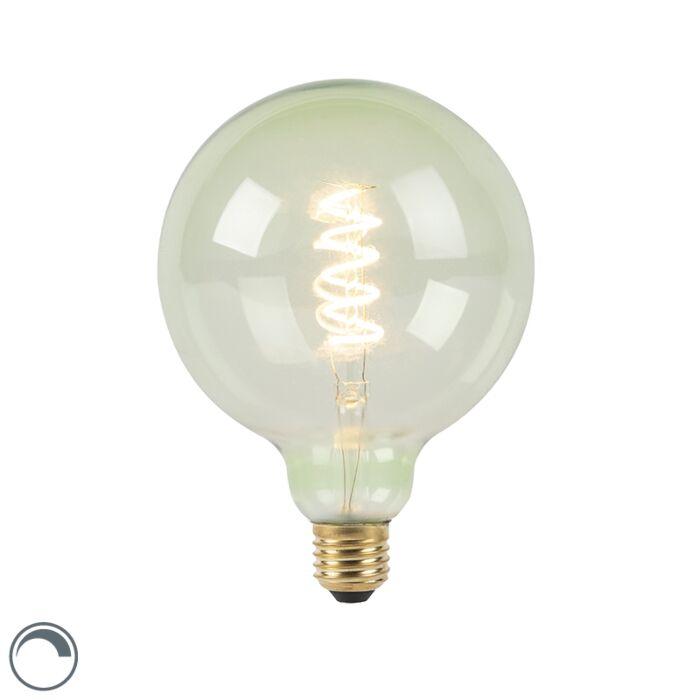E27-dimbare-LED-spiraal-filament-lamp-G125-groen-200-lm-2100K