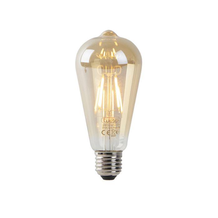 Set-van-3-LED-filament-ST64-2200K-goud-met-licht-donker-sensor