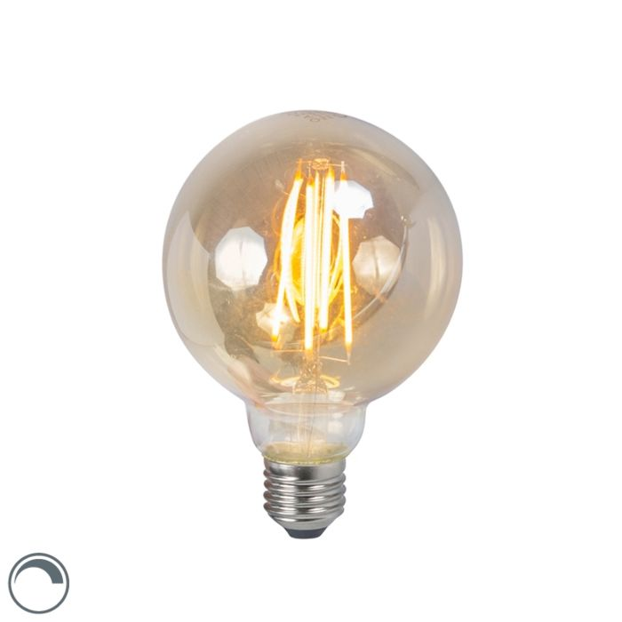 LED-filament-lamp-E27-5W-2200K-G95-smoke-dimbaar