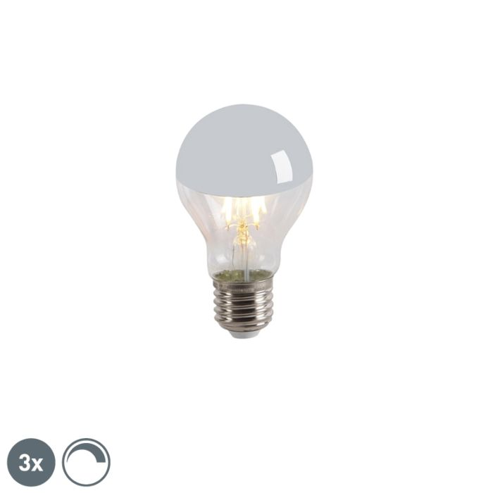 Set-van-3-LED-filamentlamp-kopspiegel-E27-240V-4W-300lm-A60-dimbaar