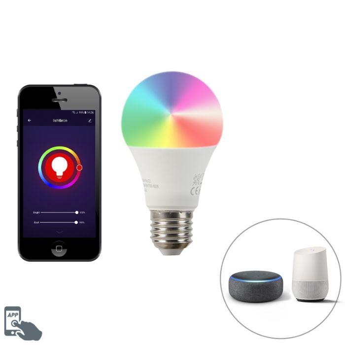 E27-dimbare-LED-lamp-Wifi-Smart-met-app-9W-806lm-2700-6500K-dimbaar