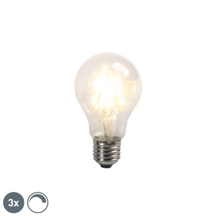 Set-van-3-LED-filament-gloeilamp-E27-4W-390lm-dimbaar