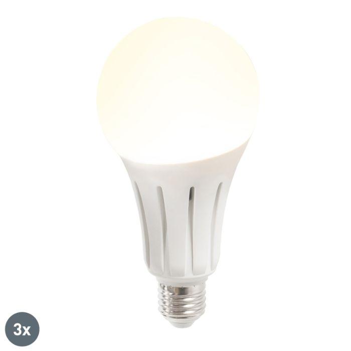Set-van-3-LED-lamp-B60-18W-E27-warmwit