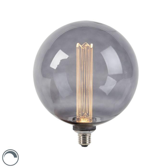 LED-lamp-G200-E27-3,5W-2000K-smoke-dimbaar