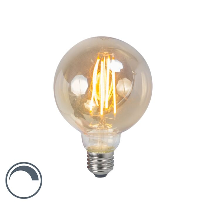 LED-filament-lamp-E27-5W-2200K-G95-smoke-dimbaar