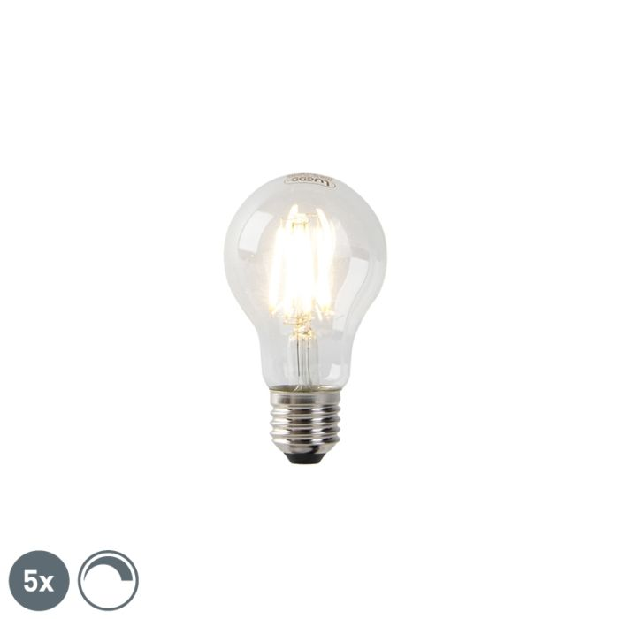 Set-van-5-dimbare-E27-LED-lampen-helder-glas-7W-800-lm-2700K