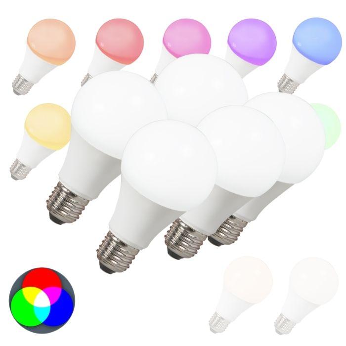 Set-van-5-LED-lampen-E27-240V-7W-500lm-A60-Smart-Light