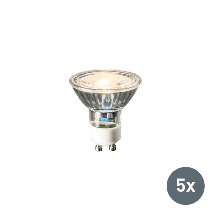 Set-van-5-GU10-LED-lamp-240V-3W-230lm-warm-wit