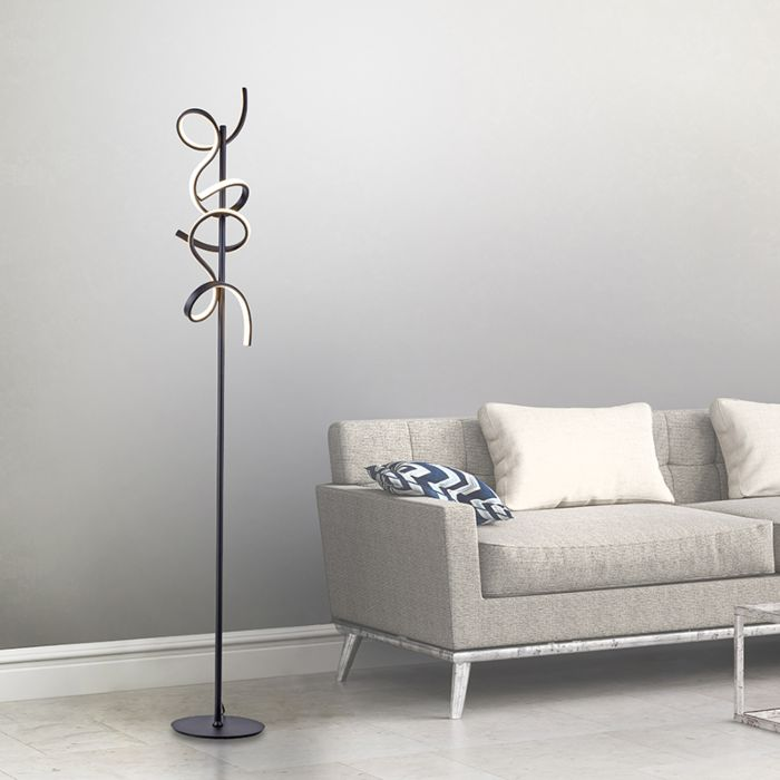 Design-vloerlamp-zwart-incl.-LED-en-dimmer---Krisscross