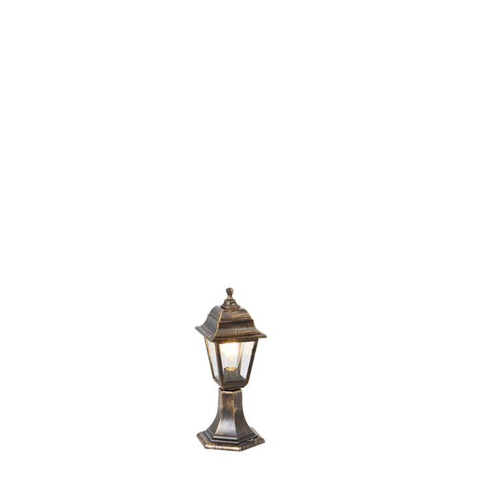 Klassiek-buiten-paaltje-goud-44-cm-IP44---Capital