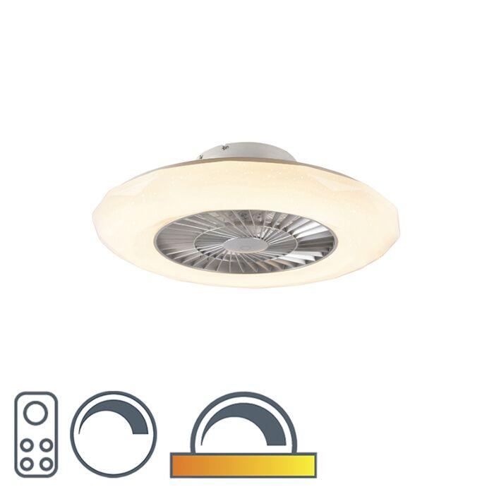 Plafondventilator-zilver-incl.-LED-met-ster-effect-dimbaar---Clima