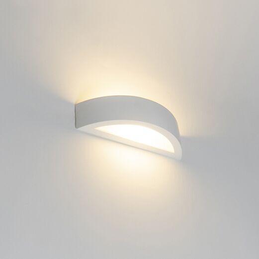 Landelijke-wandlamp-gips---Aurel-Novo