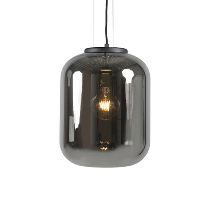 Smart-hanglamp-zwart-met-smoke-glas-incl.-WiFi-A60---Bliss