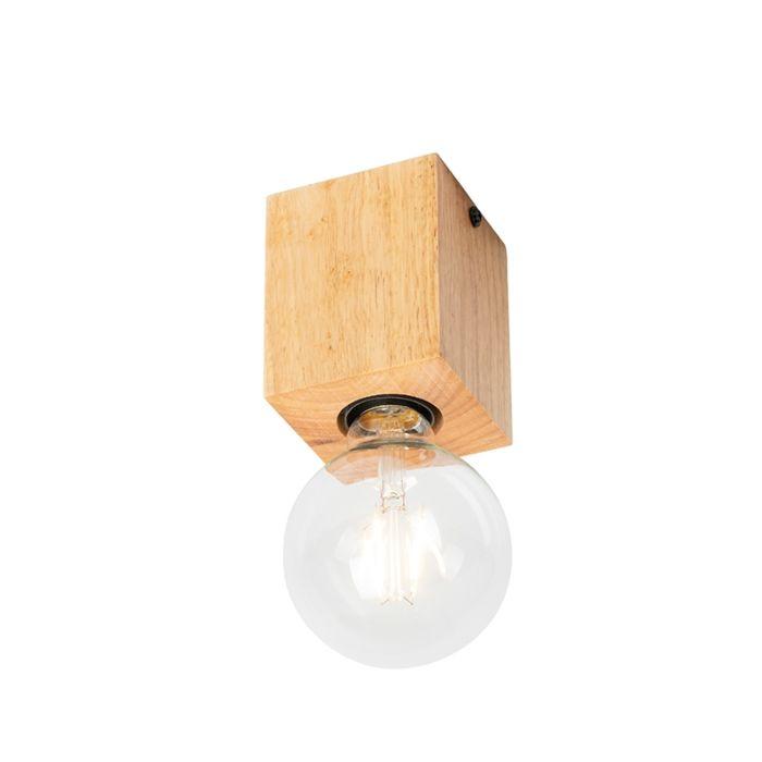 Landelijke-spot-hout-naturel---Bloc