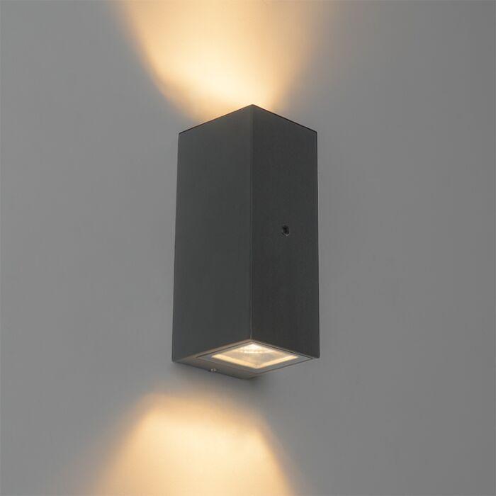 Wandlamp-grijs-IP44-met-licht-donker-sensor---Baleno-II