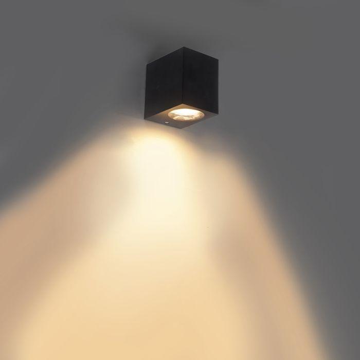 Moderne-wandlamp-zwart-van-kunststof---Baleno-I