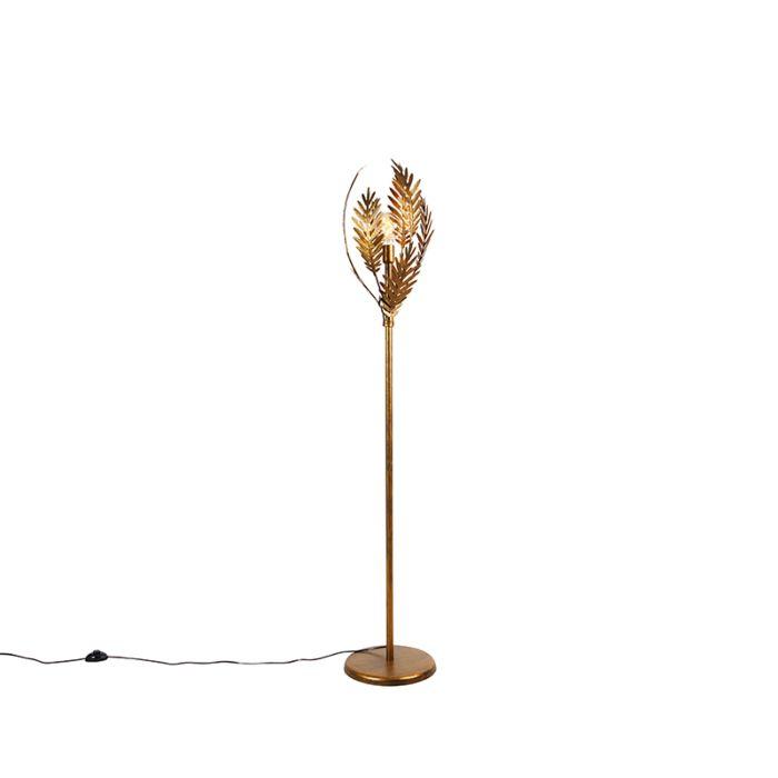 Vintage-vloerlamp-goud---Botanica
