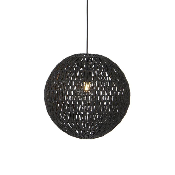 Retro-hanglamp-zwart-40-cm---Lina-Ball