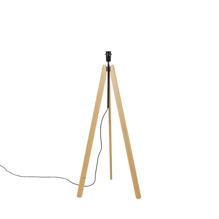 Landelijke-vloerlamp-tripod-eik---Telu