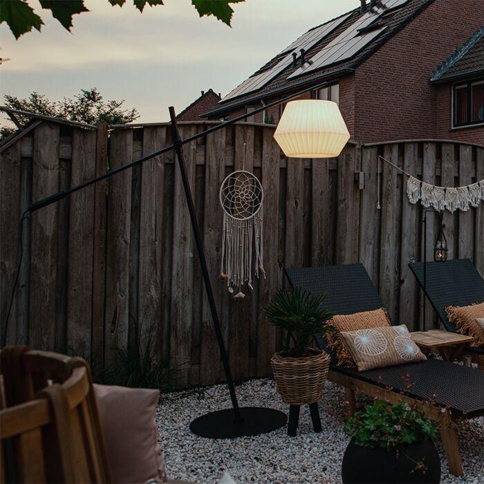 Design-buiten-vloerlamp-zwart-IP44-met-witte-kap---Virginia