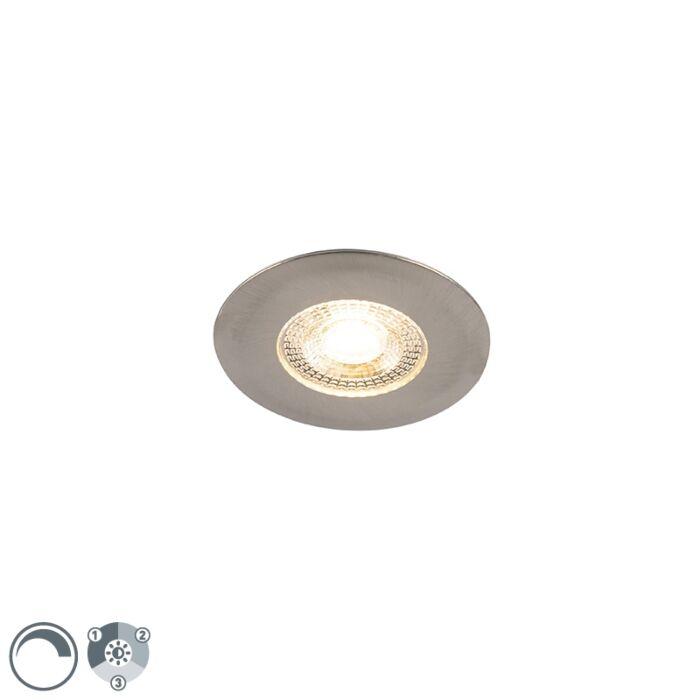 Inbouwspot-zilver-incl.-LED-3-staps-dimbaar---Ulo