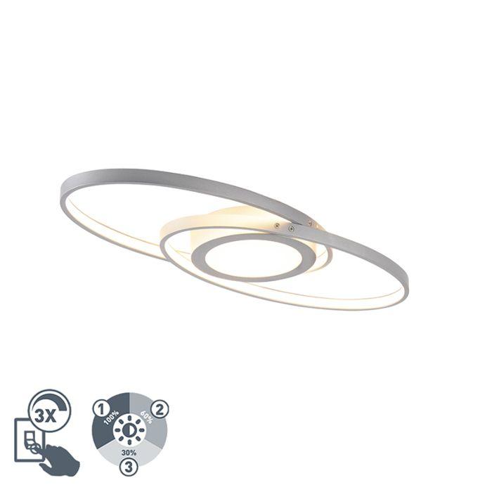 Design-plafonnière-staal-incl.-LED-3-staps-dimbaar---Axy