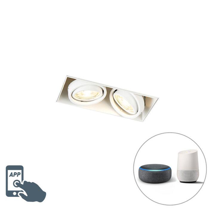 Smart-inbouwspot-wit-trimless-incl.-2-WiFi-GU10---Oneon-2