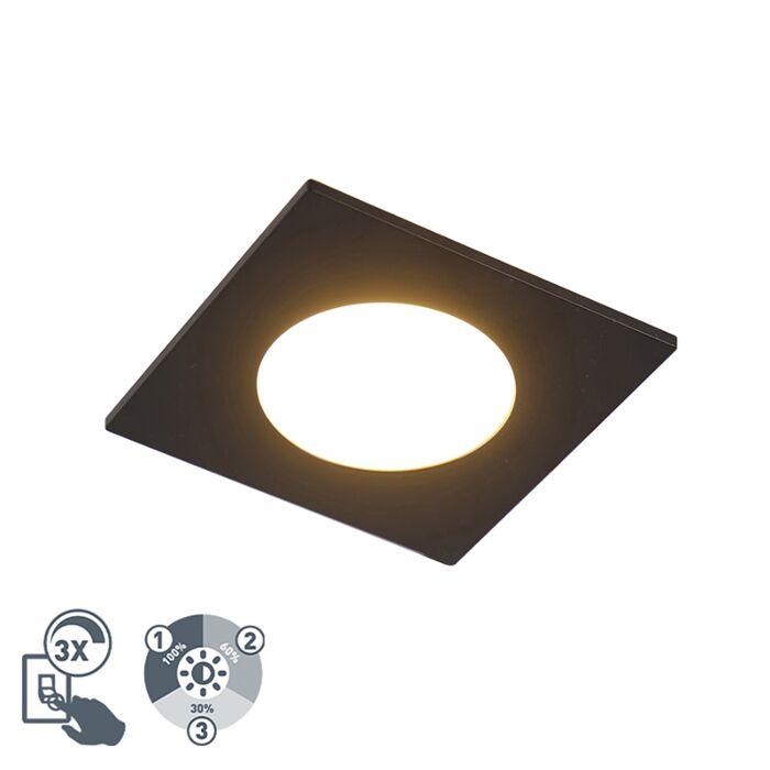 Moderne-inbouwspot-zwart-incl.-LED-3-staps-dimbaar-IP65---Simply