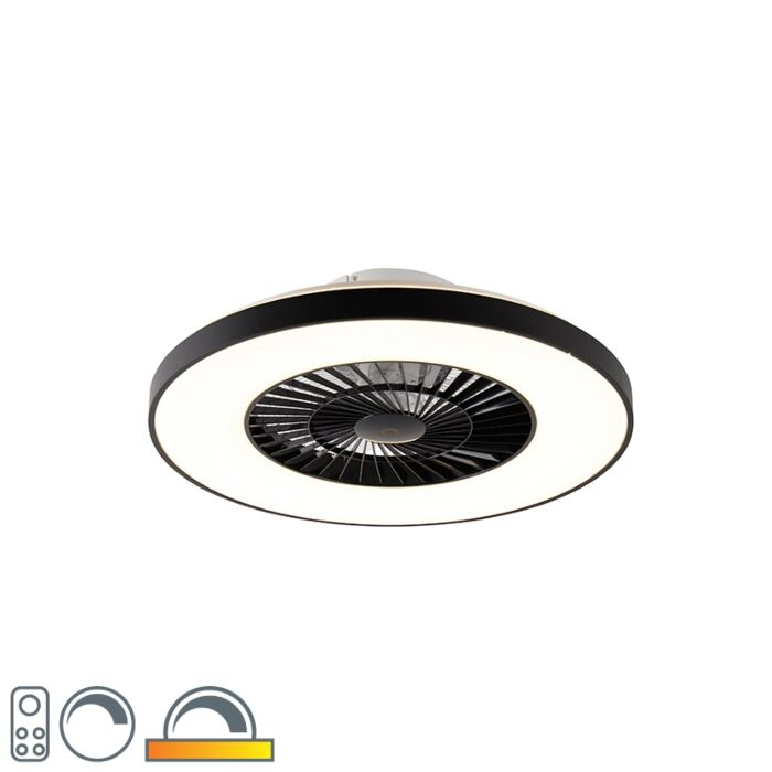 Plafondventilator-zwart-incl.-LED-met-afstandsbediening---Climo
