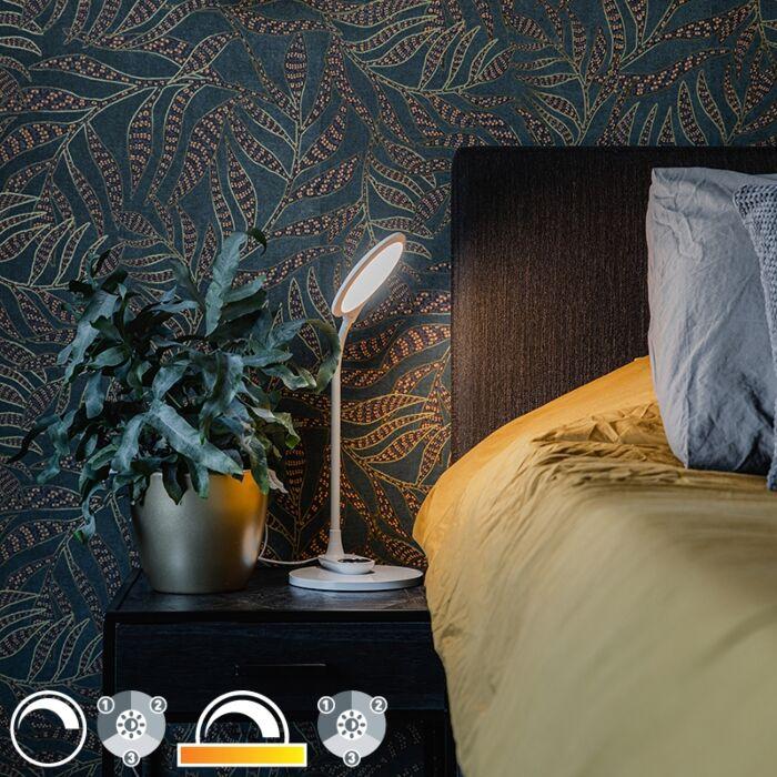 Tafel--en-wandlamp-wit-incl.-LED-met-touch-dimmer--Joni
