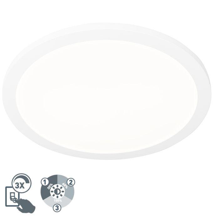 Plafonnière-wit-40-cm-incl.-LED-3-staps-dimbaar-IP44---Steve