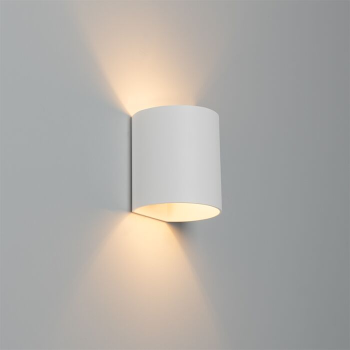 Moderne-wandlamp-wit---Sabbio