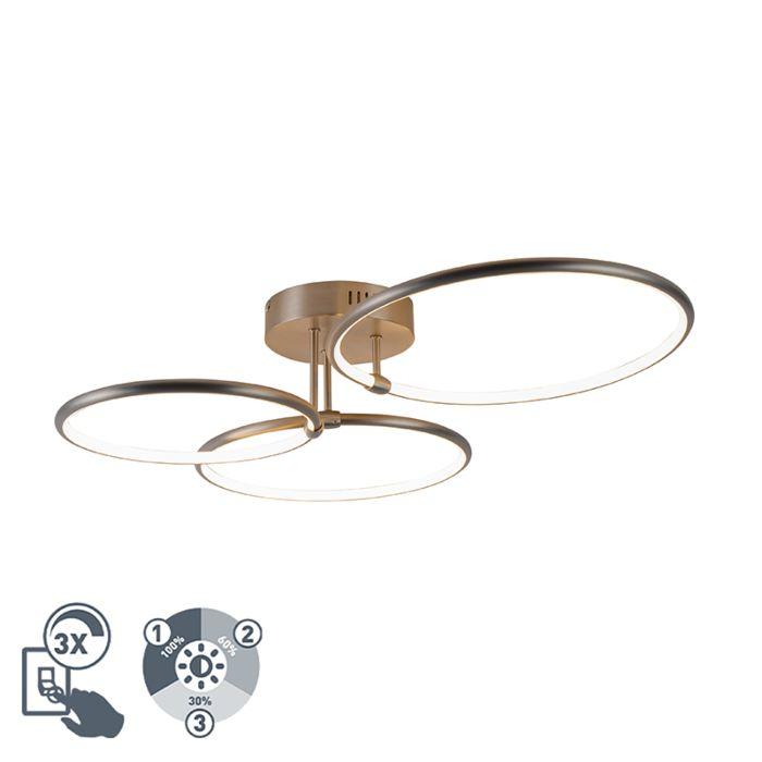 Design-plafondlamp-staal-incl.-LED-3-staps-dimbaar-3-lichts---Joaniqa