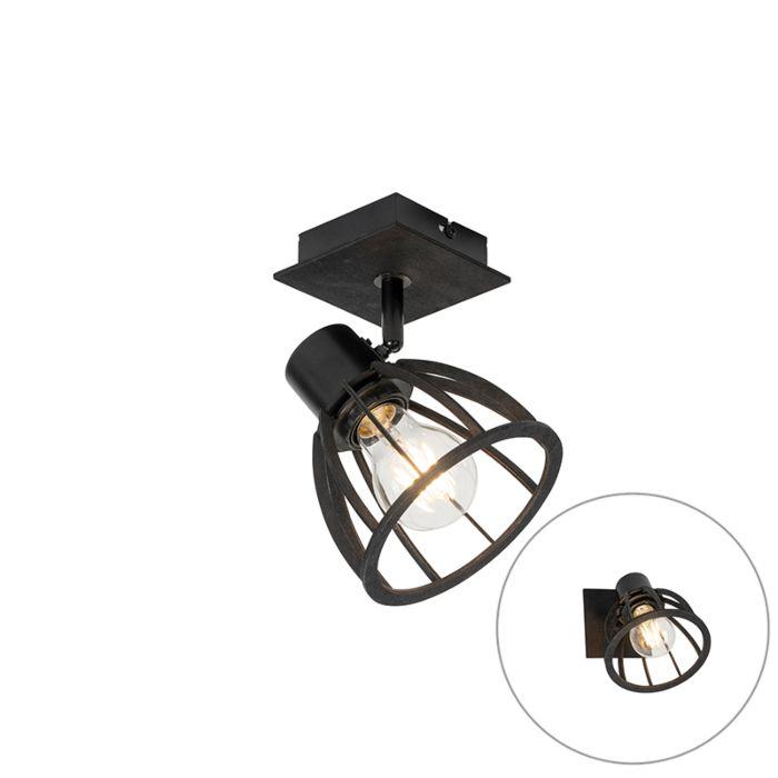 Industriële-wandlamp-zwart---Fotu