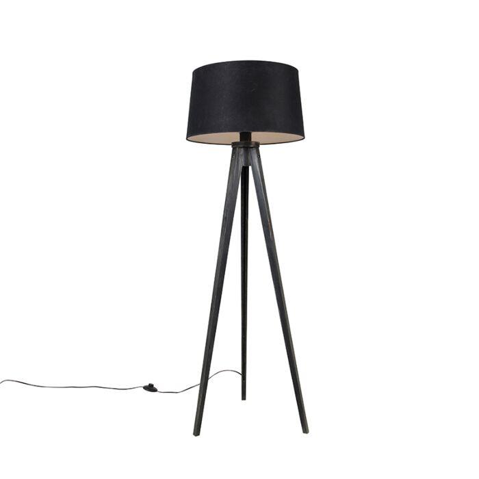 Tripod-zwart-met-linnen-kap-zwart-45-cm---Tripod-Classic