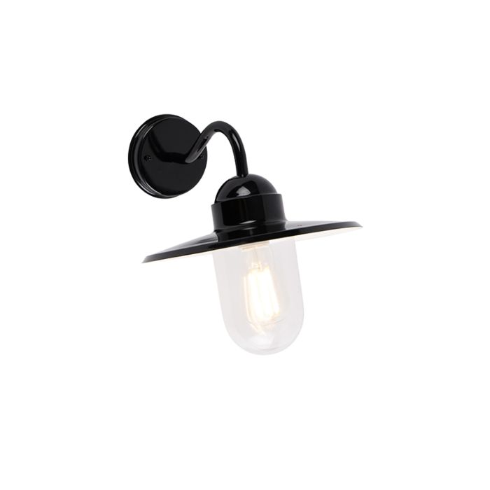 Landelijke-buitenwandlamp-zwart-IP44---Kansas