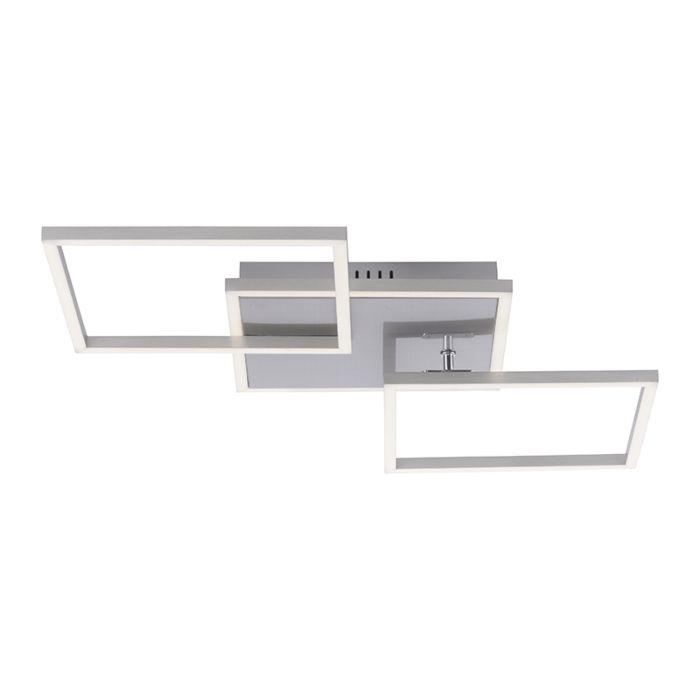 Plafondlamp-staal-incl.-LED-en-dimbaar-3-lichts---Amanda