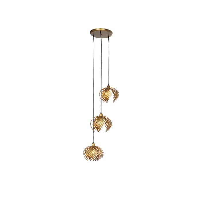 Vintage-hanglamp-messing-3-lichts---Botanica