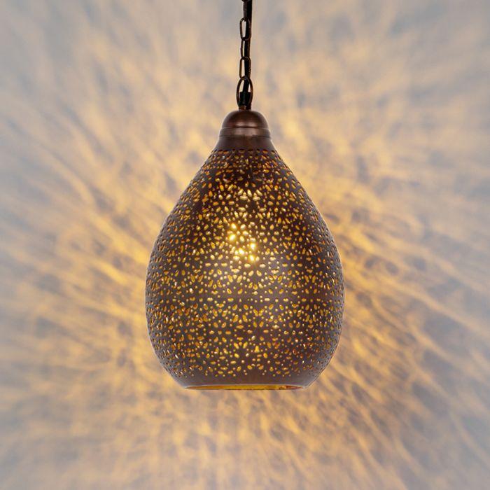 Oosterse-hanglamp-koper---Maruf-5