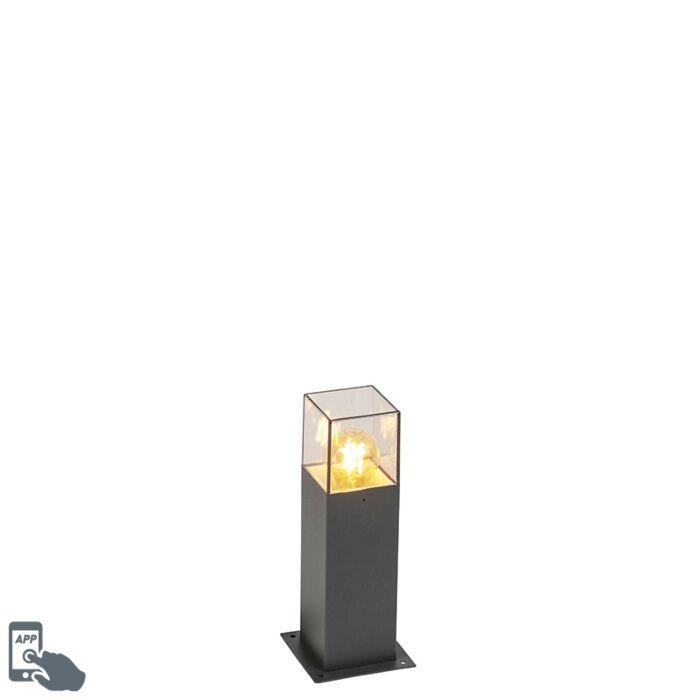 Smart-industriële-staande-buitenlamp-antraciet-30-cm-incl.-Wifi-A60---Denmark