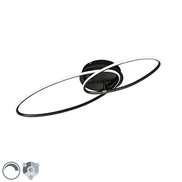 Design-plafondlamp-zwart-incl.-LED-3-staps-dimbaar---Ocho