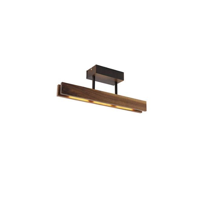 Landelijke-plafondlamp-noten-hout-44-cm-incl.-LED---Holz