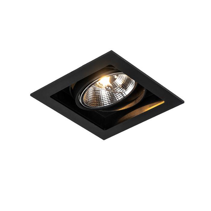 Moderne-inbouwspot-zwart-18-cm-verstelbaar---Artemis-111