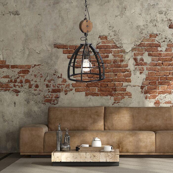 Hanglamp-woonkamer,-industrieel,-zwart-voor-huiskamer,-bij-zithoek,-salontafel-of-bijzettafel