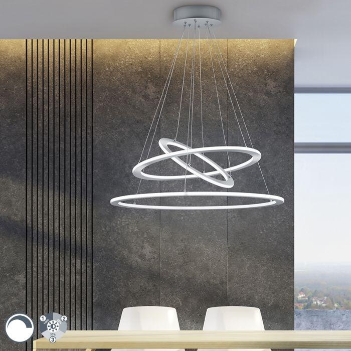Hanglamp-staal-incl.-LED-3-staps-dimbaar-3-lichts---Tijn