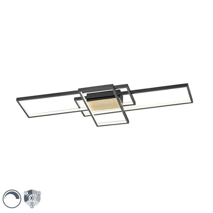 Plafondlamp-zwart-104-cm-incl.-LED-3-staps-dimbaar---Amal