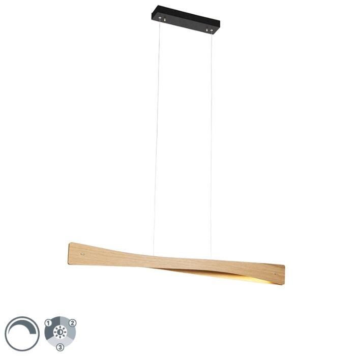 Landelijke-hanglamp-eik-incl.-LED-3-staps-dimbaar---Sjaak
